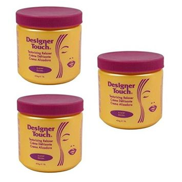 (PACK OF 3) Designer Touch Texturizing Relaxer (SUPER) - 1lb Jar: Beauty