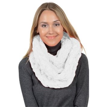 Basico - Basico Winter Chunky Knitted Infinity Scarf Circle Loop Various Colors (SF1602) [name: actual_color value: actual_color-ivory]