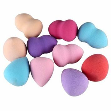 10pcs Drop and Gourd Shaped Makeup Sponge Blender Puff Flawless Powder Puff