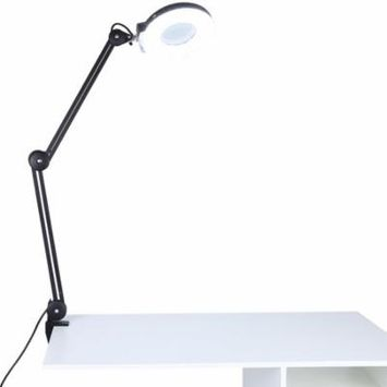 TMISHION Beauty Cosmetic 5X Magnifying Mirror Lighted Desk Lamp with Clamp