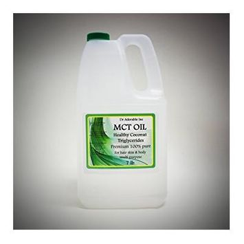 Dr. Adorable - 100% Pure Premium MCT Oil derived from Organic Coconut Oil Pure Medium-Chain Triglyceride- 7 Lb