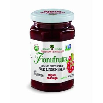 Rigoni di Asiago Fiordifrutta Organic Fruit Spread, Wild Lingonberry, 6 Count