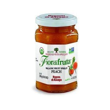 Rigoni Di Asiago Fiordifrutta Organic Fruit Spread, Peach, 8.82 Ounce, 6 Jars
