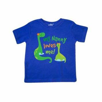 My Nanny Loves Me Grandson Gift Toddler T-Shirt