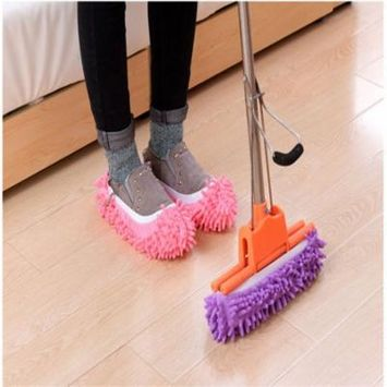 Slippers Multifunctional Mop Shoe Cover Perfect for Cleaning Dust Pet Hair