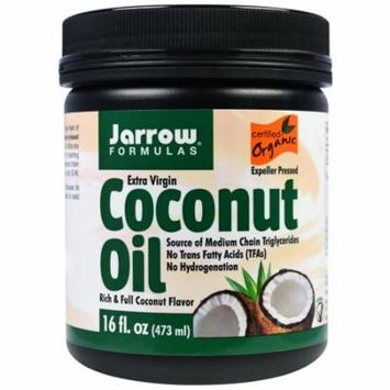 Jarrow Formulas, Organic, Extra Virgin Coconut Oil, 16 oz (pack of 6)