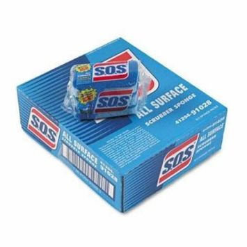 SOS 91028CT All-Surface Scrubber Sponge, 2 1/2 x 4 1/2, 0.9