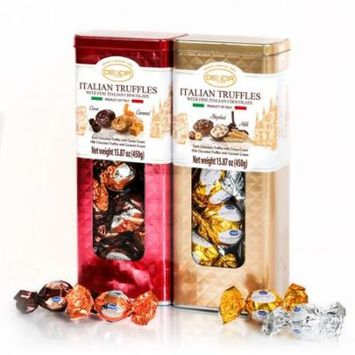 Italian Truffles with Fine Italian Chocolate Bipack Tin Box (2 pk.)