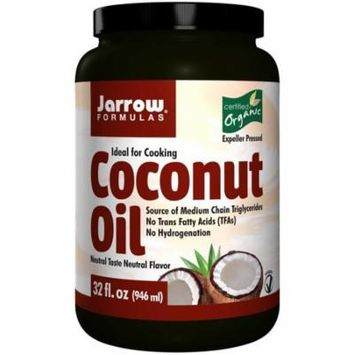 Jarrow Formulas, Organic Coconut Oil, 32 fl oz (pack of 4)