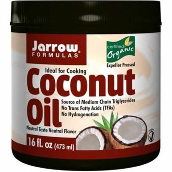 Jarrow Formulas, Organic Coconut Oil, 16 oz (pack of 4)