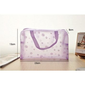 Jdbuy Multipurpose Floral Crystal Comestic Makeup Beauty Storage Travelling Bath Bag