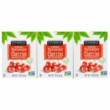 Stoneridge Orchards, Montmorency Cherries, Whole Dried Tart Cherries, 6 Pack, 0.75 oz (21 g) Each(pack of 3)