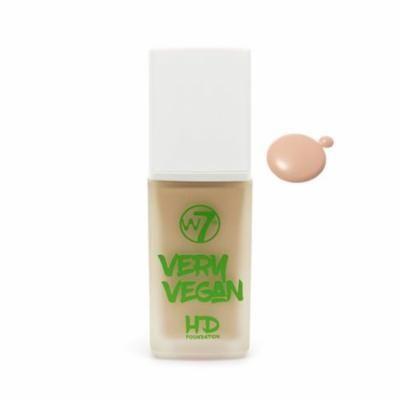 W7 Very Vegan HD Foundation Natural Beige 1.12oz 32ml