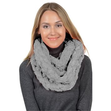 Basico - Basico Winter Chunky Knitted Infinity Scarf Circle Loop Various Colors (SF1602) [name: actual_color value: actual_color-gray]