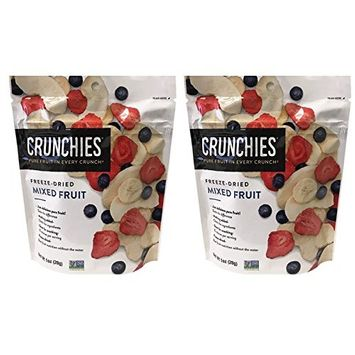 Crunchies All Natural Freeze-Dried Pure Fruits Snack 1oz, 2 Packs (Mixed Fruit)