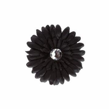 Hair Accessory Black Rhinestone Daisy Flower Hairclip