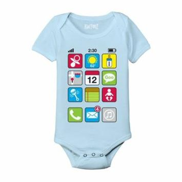 I Baby Phone Screen Cute Funny Nerdy Tech-Baby One Piece
