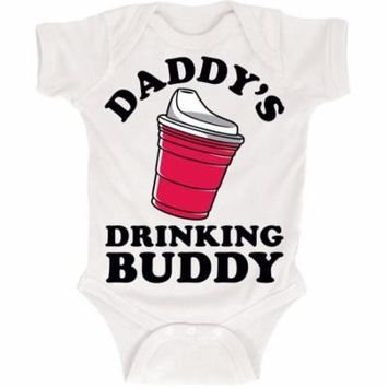 Daddys Bottle Drinking Buddy Baby Humor One Piece