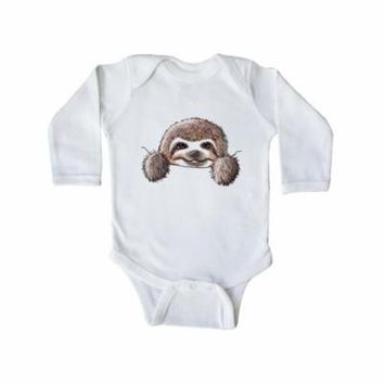 KiniArt Sloth Long Sleeve Creeper - KiniArt