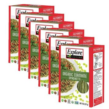 Explore Cuisine Bean Pasta USDA Organic Edemame Spaghetti Certified Kosher 8oz - 6 pack [Edemame]