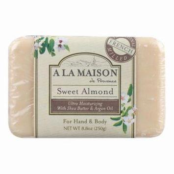 A La Maison Bar Soap - Sweet Almond - 8.8 Oz
