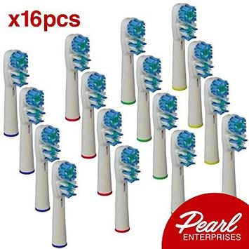Oral B Electric Toothbrush Replacement Heads – 16 Generic Oral B Replacement Brush Heads – Pearl Enterprises Quality Electric Toothbrush Heads For Oral B