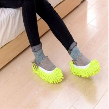 2018 Multifunctional Mop Shoe Cover/Slippers. Perfect for Cleaning Dust, Pet Hair!