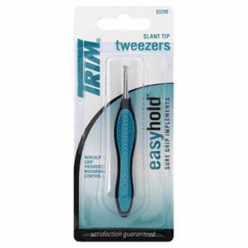 TRIM - Easy Hold Tweezer Slant Tip - 1 Tweezer - Buy Packs and Save (Pack of 6)