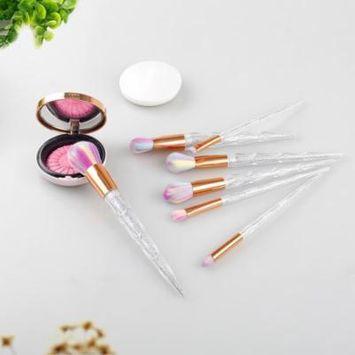 DZT1968 7 PCS Make Up Foundation Eyebrow Eyeliner Blush Cosmetic Concealer Brushes