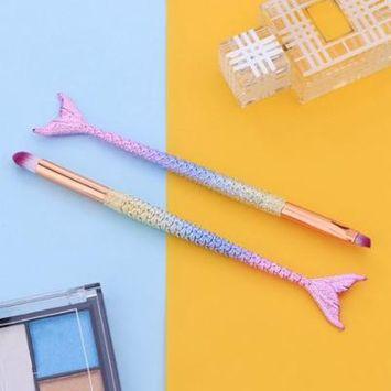 DZT1968 Fish ScaleMake Up Foundation Eyebrow Eyeliner Blush Cosmetic Concealer Brushes