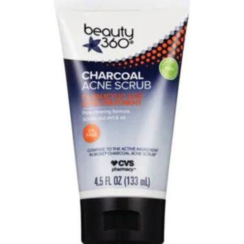 Beauty360 Charcoal Acne Scrub, 4.5 OZ