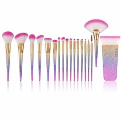 docolor 16 pcs unicorn makeup brushes setfantasy fan