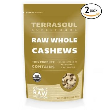 Terrasoul Superfoods Organic Raw Whole Cashews, 4 Pounds [Cashews - Whole]