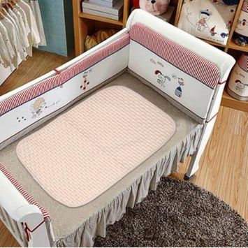 2018 NEW Upgraded Comfortable Newborn Baby Diaper Changing Pad Cotton Breathable Waterproof Baby Nappy Changing Mat Urine Pad Brown & white