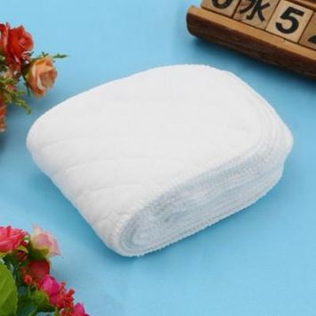 2018 NEW Upgraded Cotton 10pcs/set Soft Breathable Reusable Pure Cotton Baby Cloth Diaper Nappy Liners Insert 3 Layers