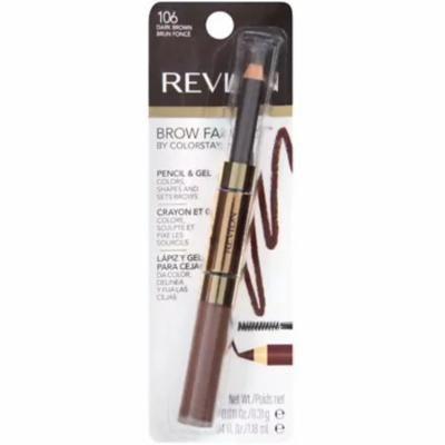 Revlon Brow Fantasy Pencil & Gel, Dark Brown [106], 1 ea