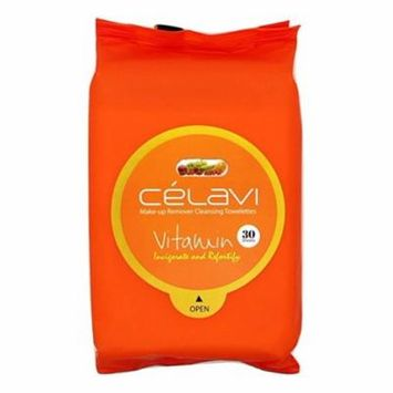 Celavi Makeup Remover Cleansing Wipes Removing Towelettes 2 Packs - 60 Sheets (Vitamin)