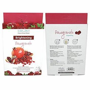 Celavi Essence Facial Mask Paper Sheet 5pcs (Made In Korea) Pomegranate 5PCS