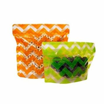 BooginHead Pack'Ems Snack Pouches, 2-Pack (1 Small & 1 Large)