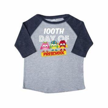 Owl 100 Days Pre-K Toddler T-Shirt
