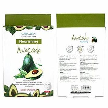 Celavi Essence Facial Mask Paper Sheet 5pcs (Made In Korea) Avocado 5PCS
