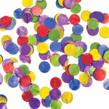 Multi Color 1 Oz. Tissue Confetti, Case of 12