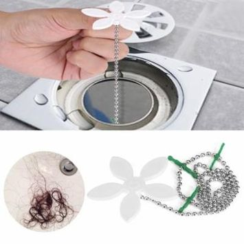 Qiilu Bathroom Drain Cleaner 18Hair Drain Clog Remover Hair Catcher Solution For Shower Prevents Hair From Clogging Up Cleaning Tool Unclogger And Auger Plumbing