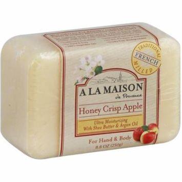 6 Pack - A LA MAISON Bar Soap, Honey Crisp Apple 8.80 oz