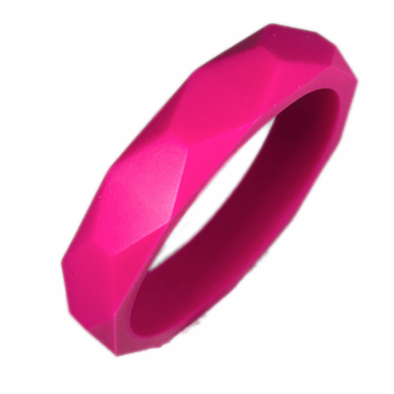 Gumeez® 'Grace' Teething Bangle (Barbie Pink)