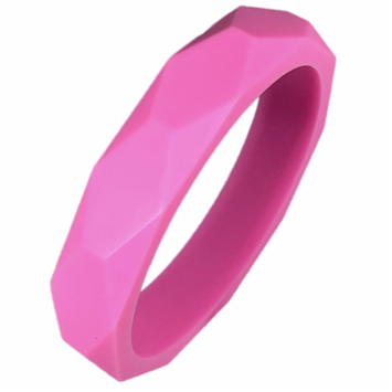 Gumeez® 'Grace' Teething Bangle (Bubblegum Pink)