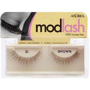 Andrea Modlash False Eyelashes - #21 Brown (Pack of 6)