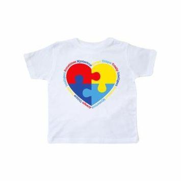 Autism Puzzle Heart Toddler T-Shirt