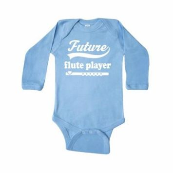 Future Flute Player Music Gift Long Sleeve Creeper