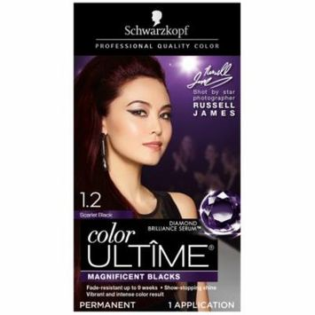 Schwarzkopf Color Ultime Permanent Hair Color Cream, 1.2 Scarlet Black